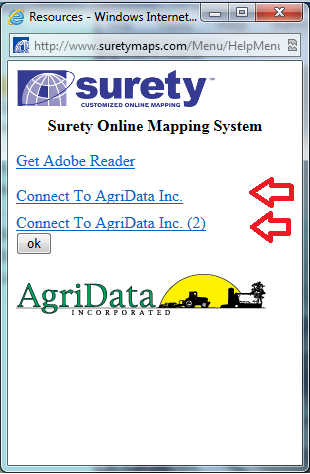Connect to AgriData, Inc. links.